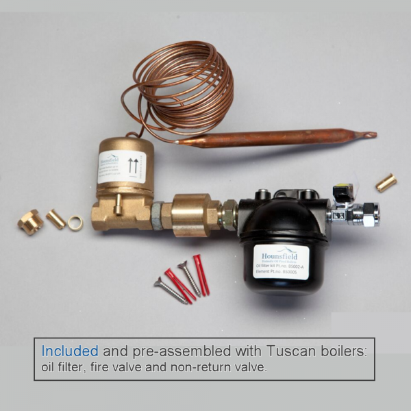 Fittings included with Tuscan Boilers