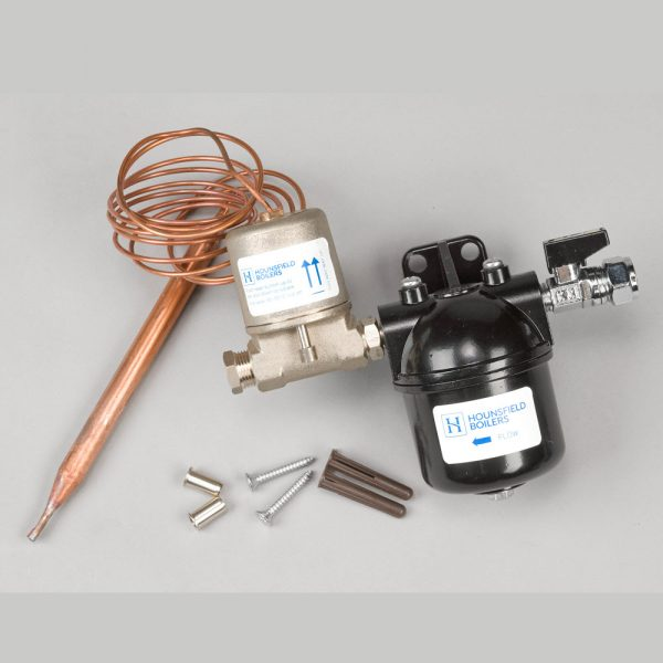 Oil filter kit with fire valve for Tuscan boilers