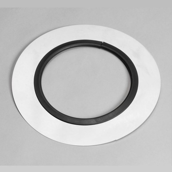 Stainless steel flue trim plate