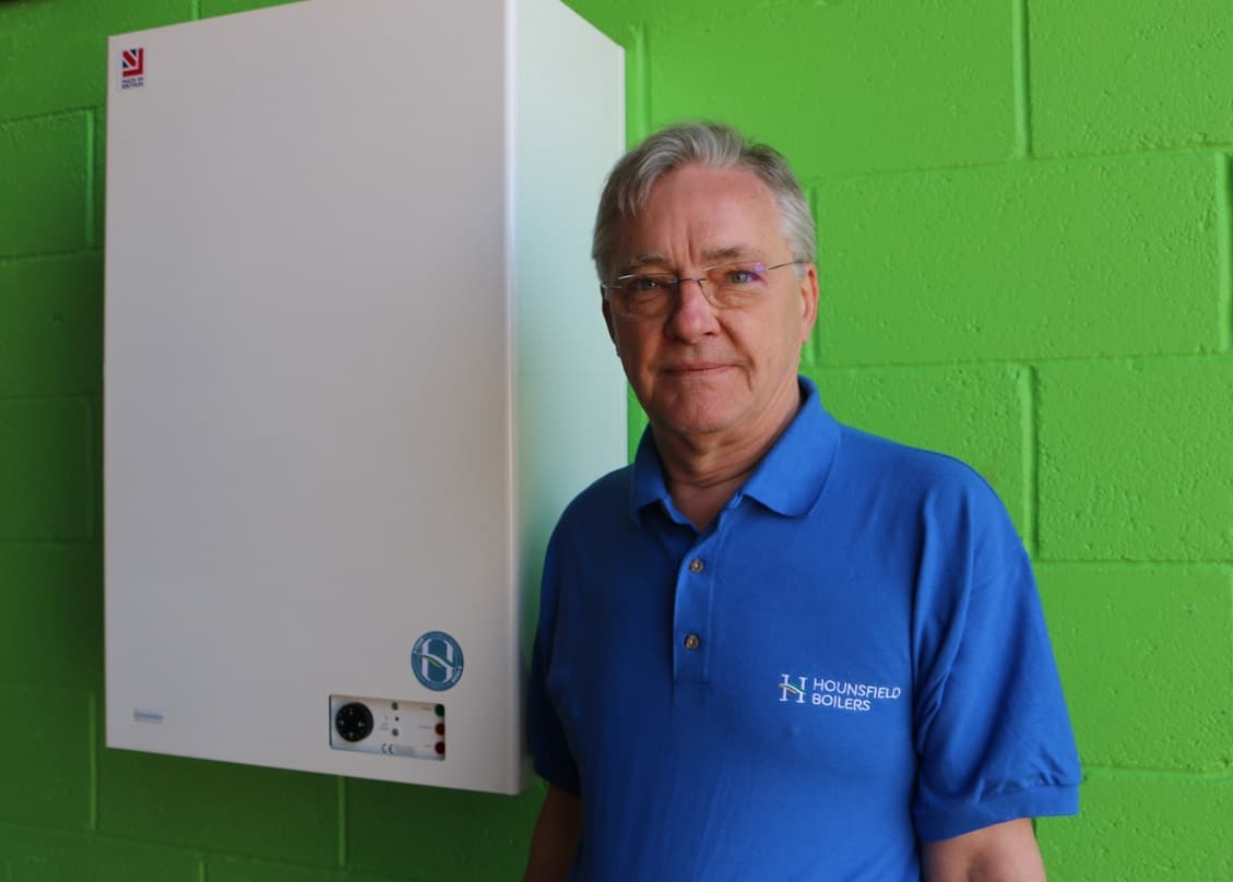 Andrew Hounsfield introduces the supermodel of boilers - Tuscan wall hung boiler