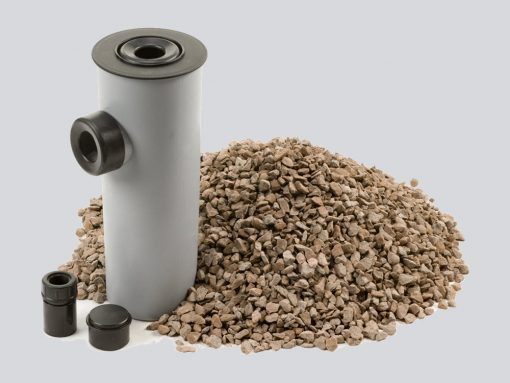 Condensate Soakaway with Lime Chippings for oil boiler
