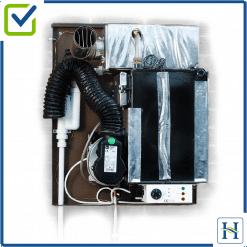 External wall-mounted boiler, internal view