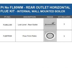 FL80WM- Horizontal Flue Kit Internal wall mounted boiler