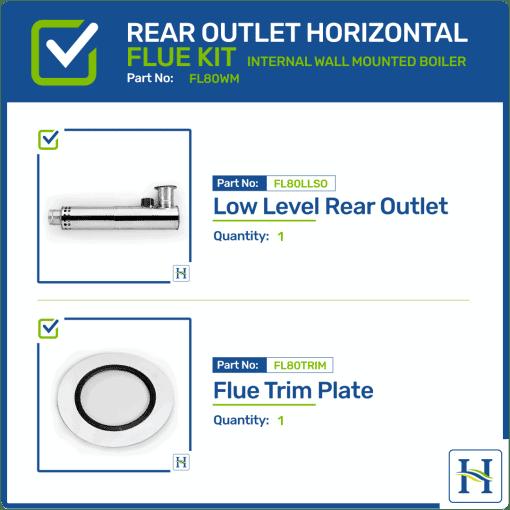 Low Level Rear Outlet Horizontal Flue Kit FL80WM