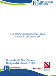 Tuscan oil fired boiler flue terminating positions options brochure