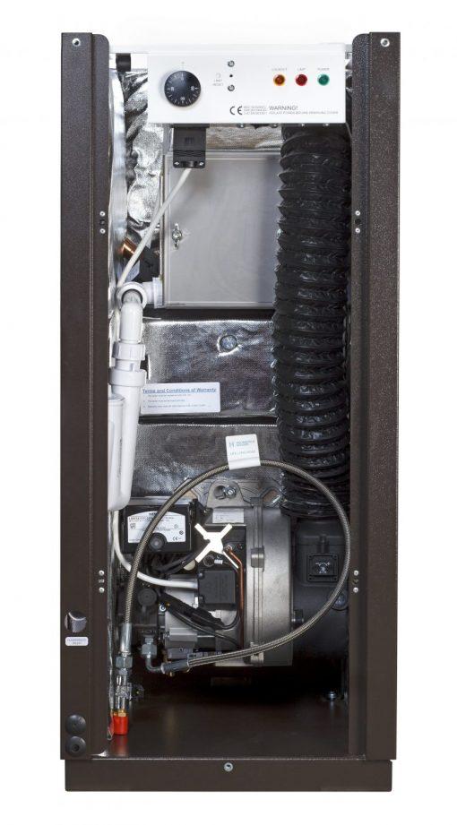 12-19 External oil boiler - internal view