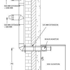 kitchen boiler balanced flue plume kit