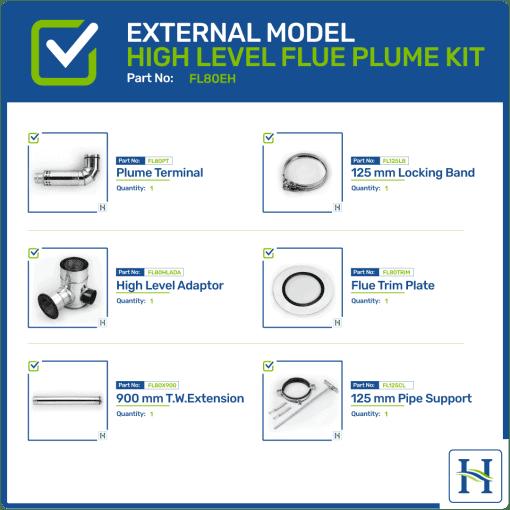 External High Level Flue Kit FL80EH