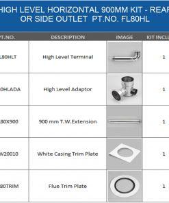 FL80HL balanced flue kit for oil boiler