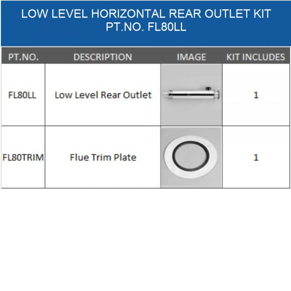 FL80LL balanced flue kit for oil boiler