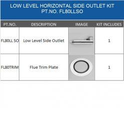 FL80LLSO balanced flue kit for oil boiler