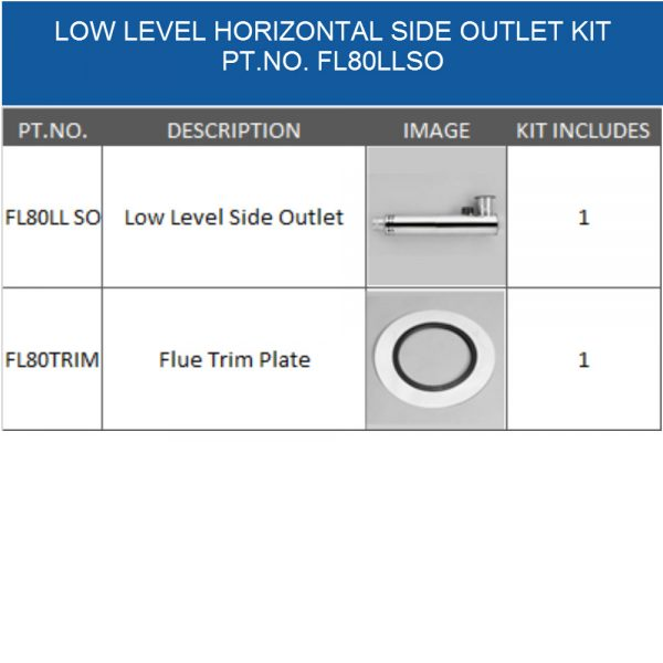 FL80LLSO balanced flue kit