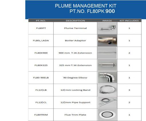 FL8PK500 Balanced Plume Flue Kit