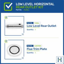 Low Level Horizontal Rear Outlet Flue Kit FL80LL