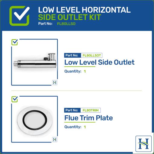 Low Level Horizontal Side Outlet Flue Kit FL80LLSO