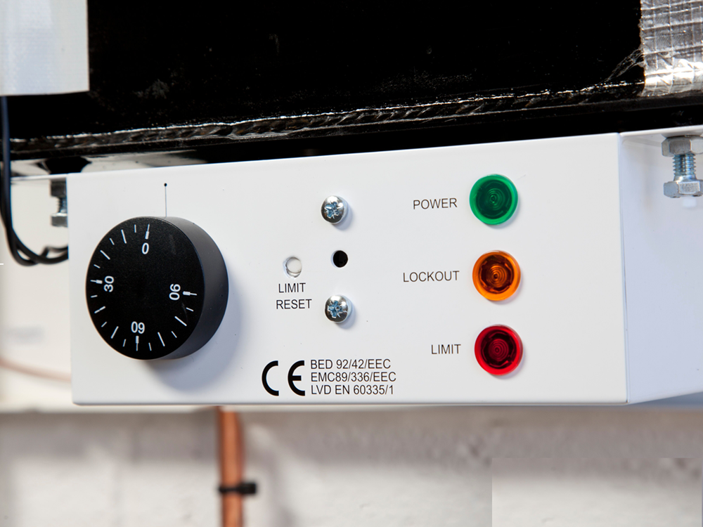 Boiler Control Panel on Hounsfield oil Boilers