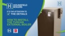 video - how to install external oil fired boiler
