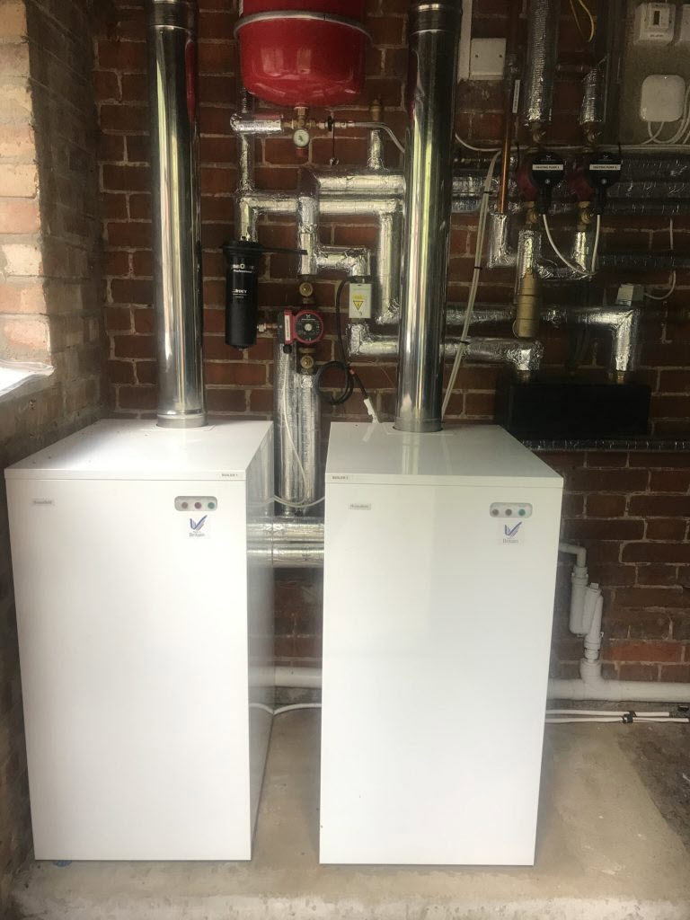new oil boilers at Ringshall Grange