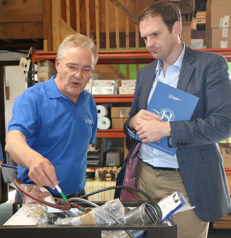 Andrew Hounsfield and Dr Dan Poulter MP, Hounsfield Boilers