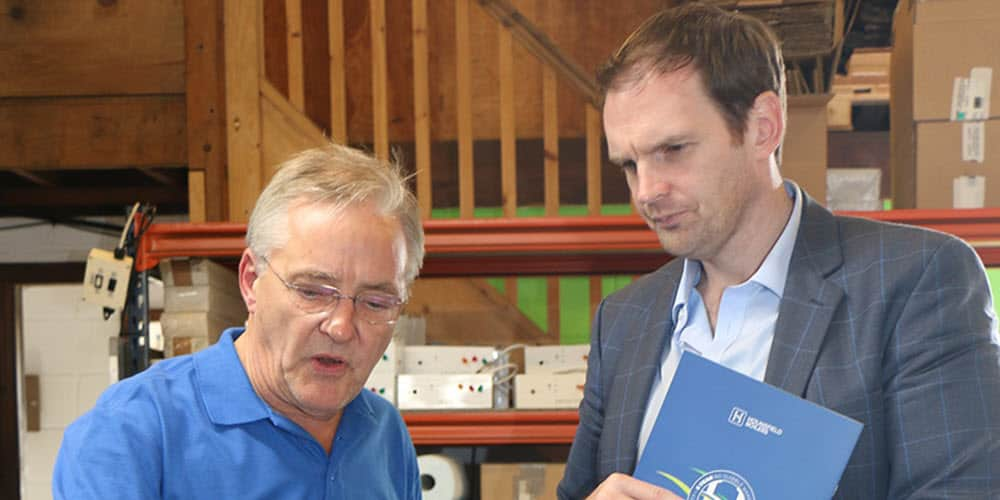 Dr Dan Poulter MP visits Hounsfield Boilers factory