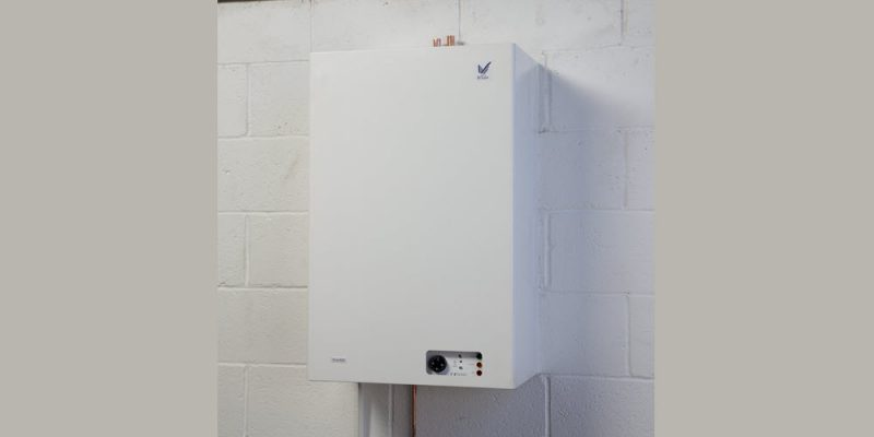 kitchen wall mounted central heating boiler