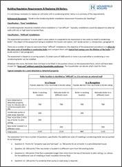 Non-Condensing Boiler excemption guide