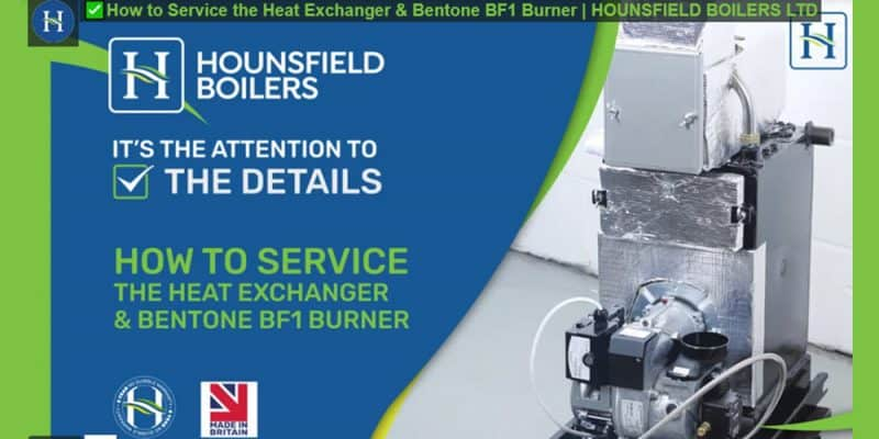 how to service the heat exchanger in Hounsfield boilers