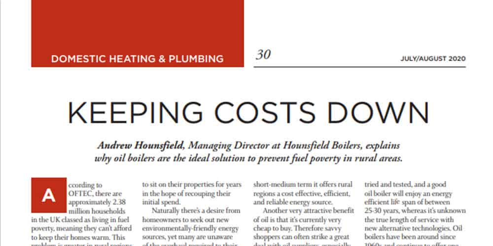 keeping costs down for heating fuel