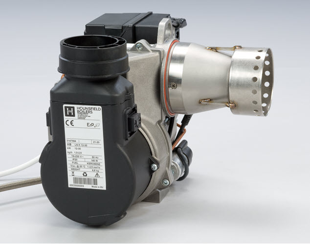 Elco burner for oil boiler left side