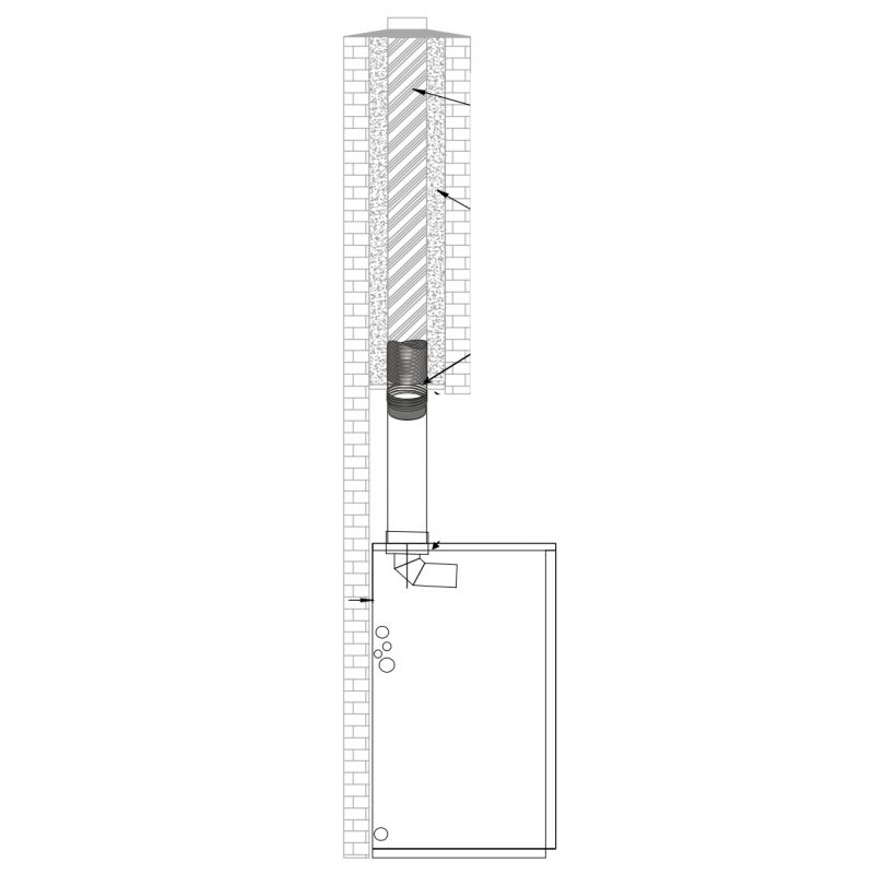 Conventional Open Flue Chimney Components