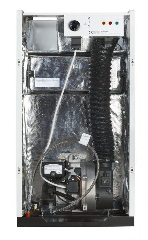 50-70 Kitchen Oil Boiler internal view - Hounsfield Boilers
