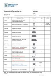 conventional flue picking list