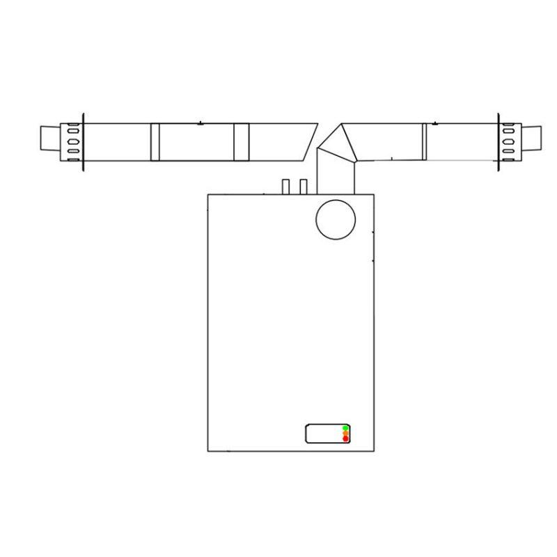 Flue Kit Horizontal Flue Kit for Internal Wall Mounted Boiler
