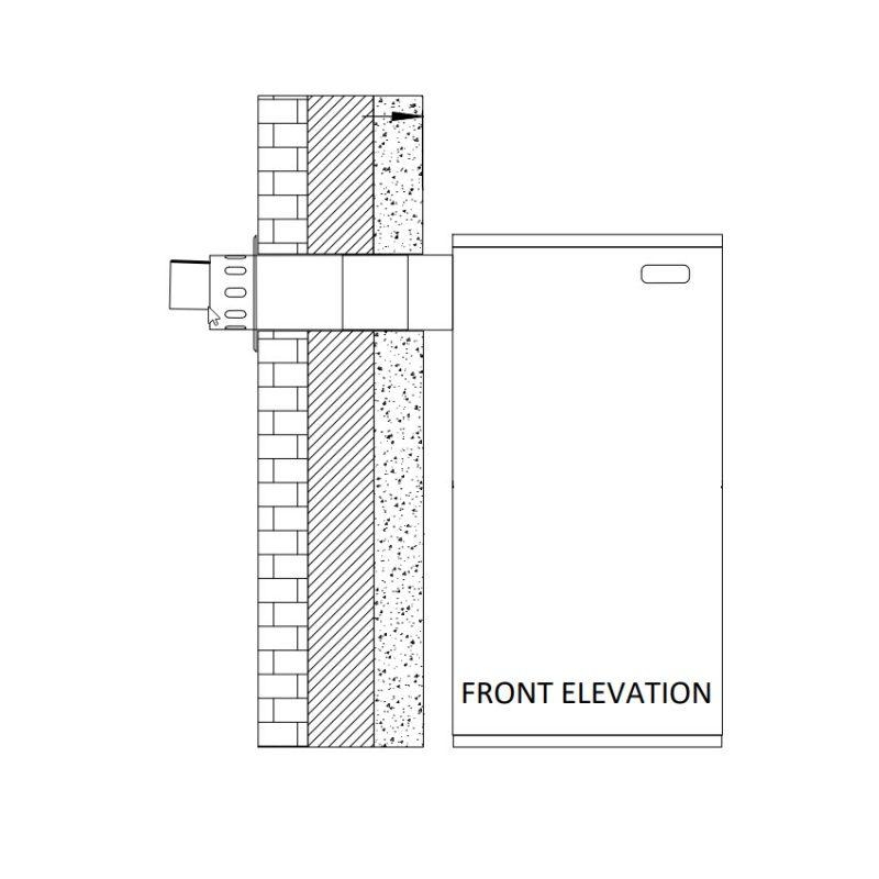Flue Kit Low Level Horizontal Side Outlet Kit