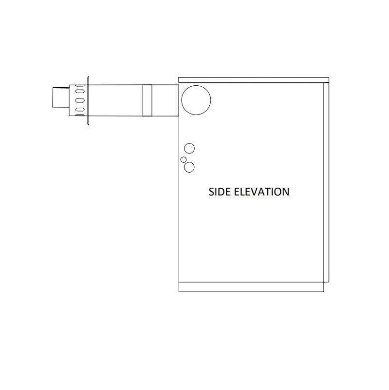 Flue Kit Low Level Horizontal Flue