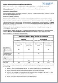 Non condensing boiler exemption guide