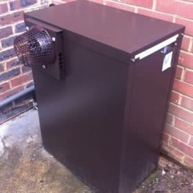 Tuscan external oil fired boiler installed at Ascot