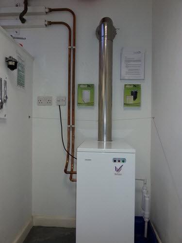Tuscan oil boiler installation at EOGB training center