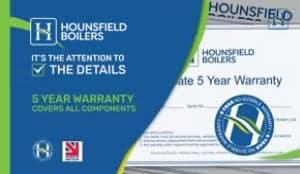 5 Year Warranty on Hounsfield Boilers