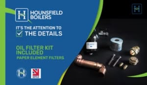 Oil Filter Kit Included with boiler