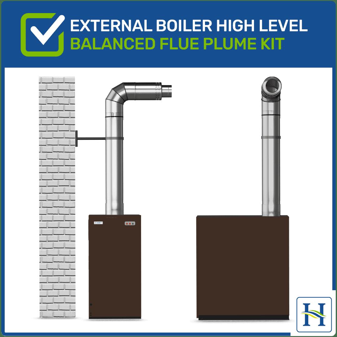External High Level Flue Kit for External Boiler