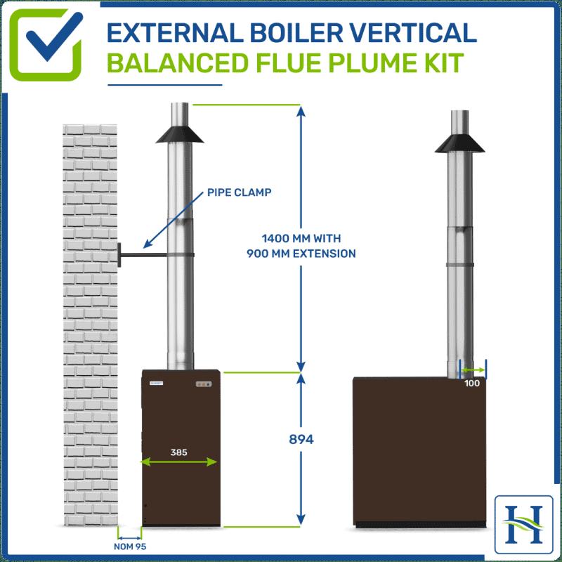 External Vertical Flue Kit