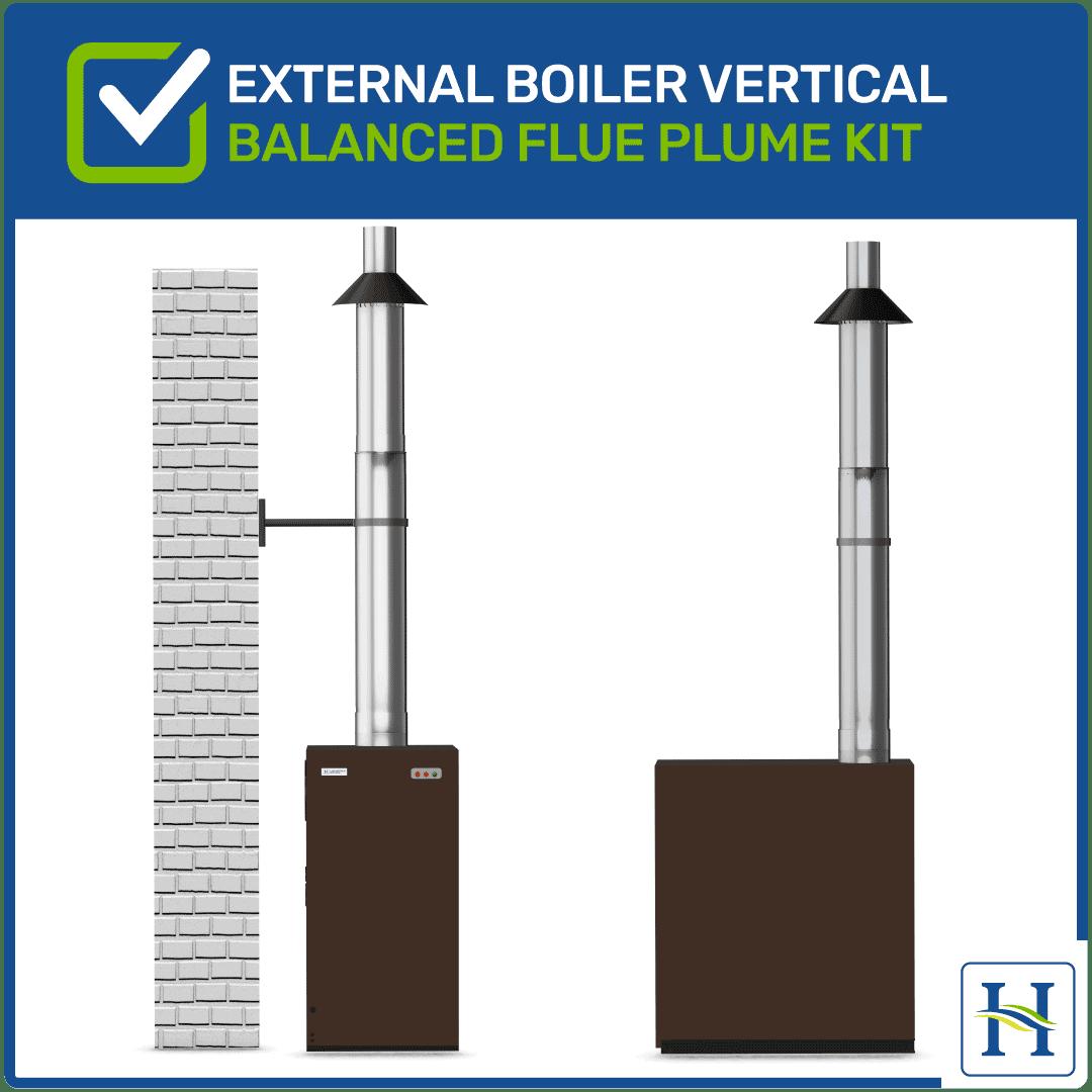 External Vertical Flue Kit for External boiler