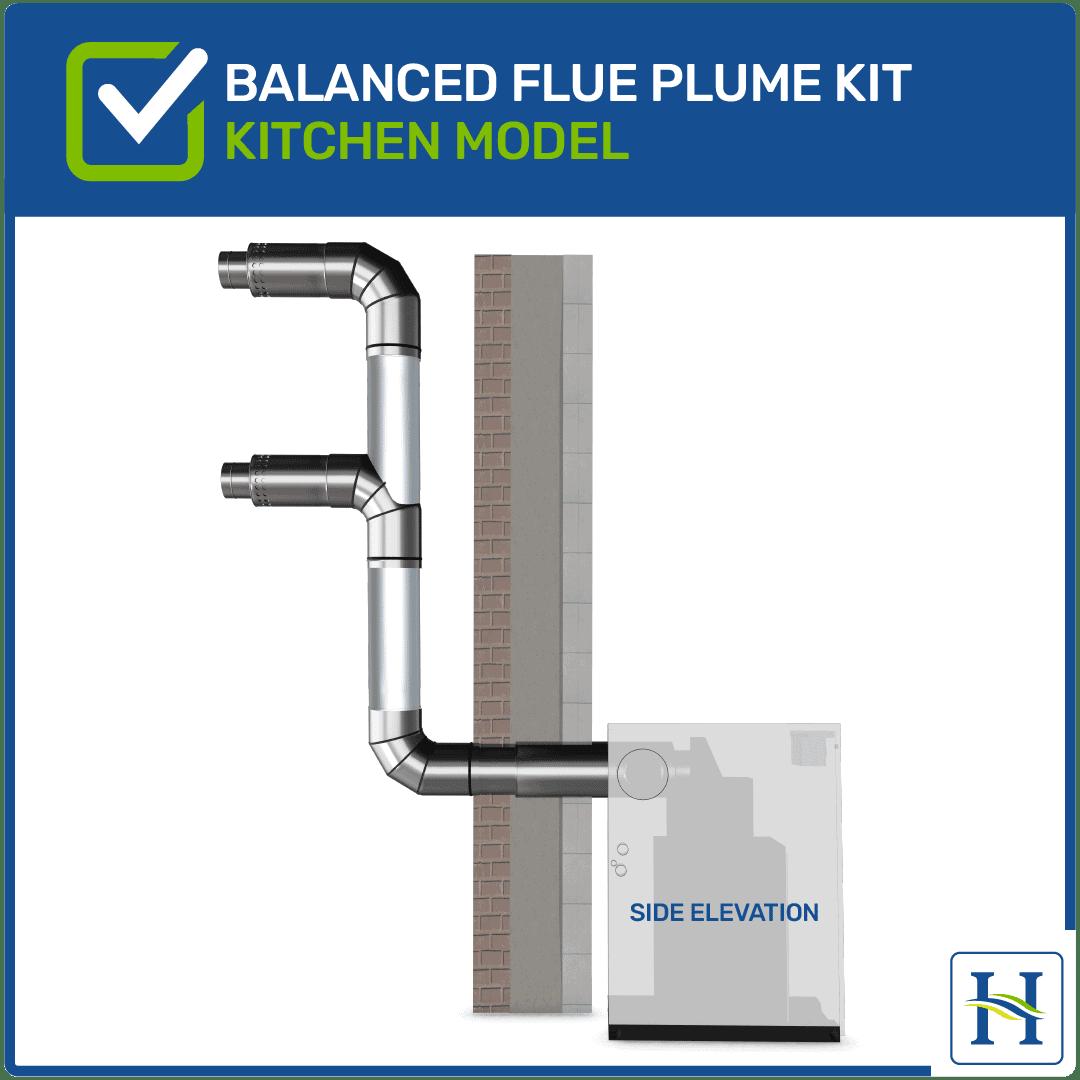 Kitchen Model Balanced Flue Plume Kit
