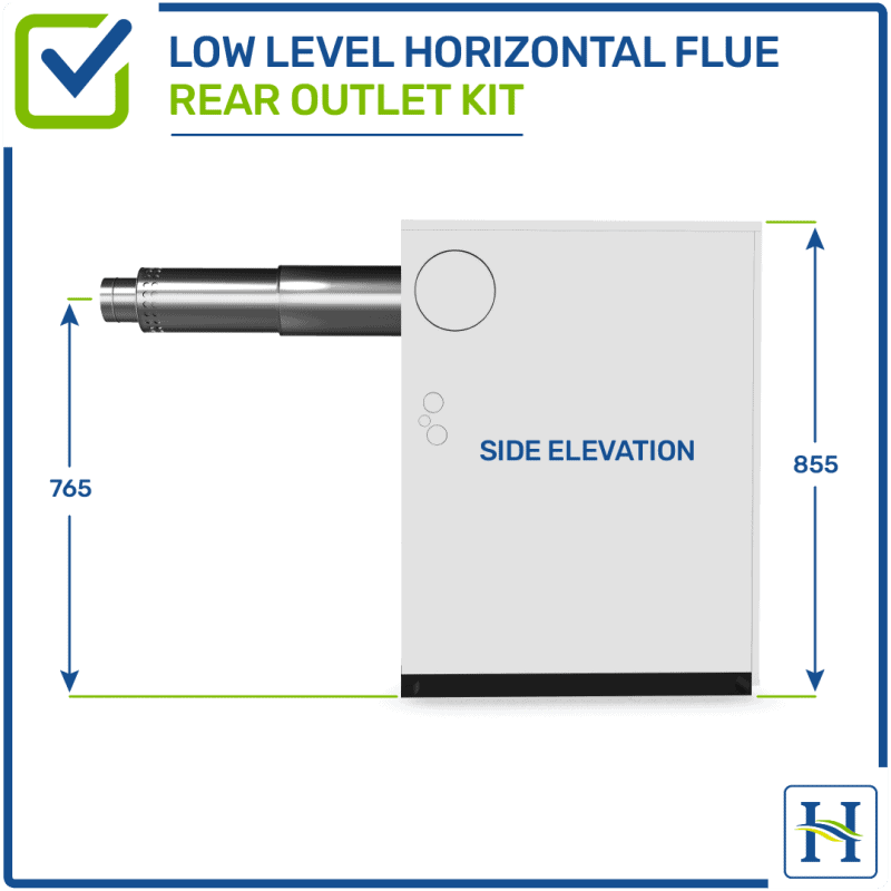 Low Level Horizontal Flue Rear Outlet Kit