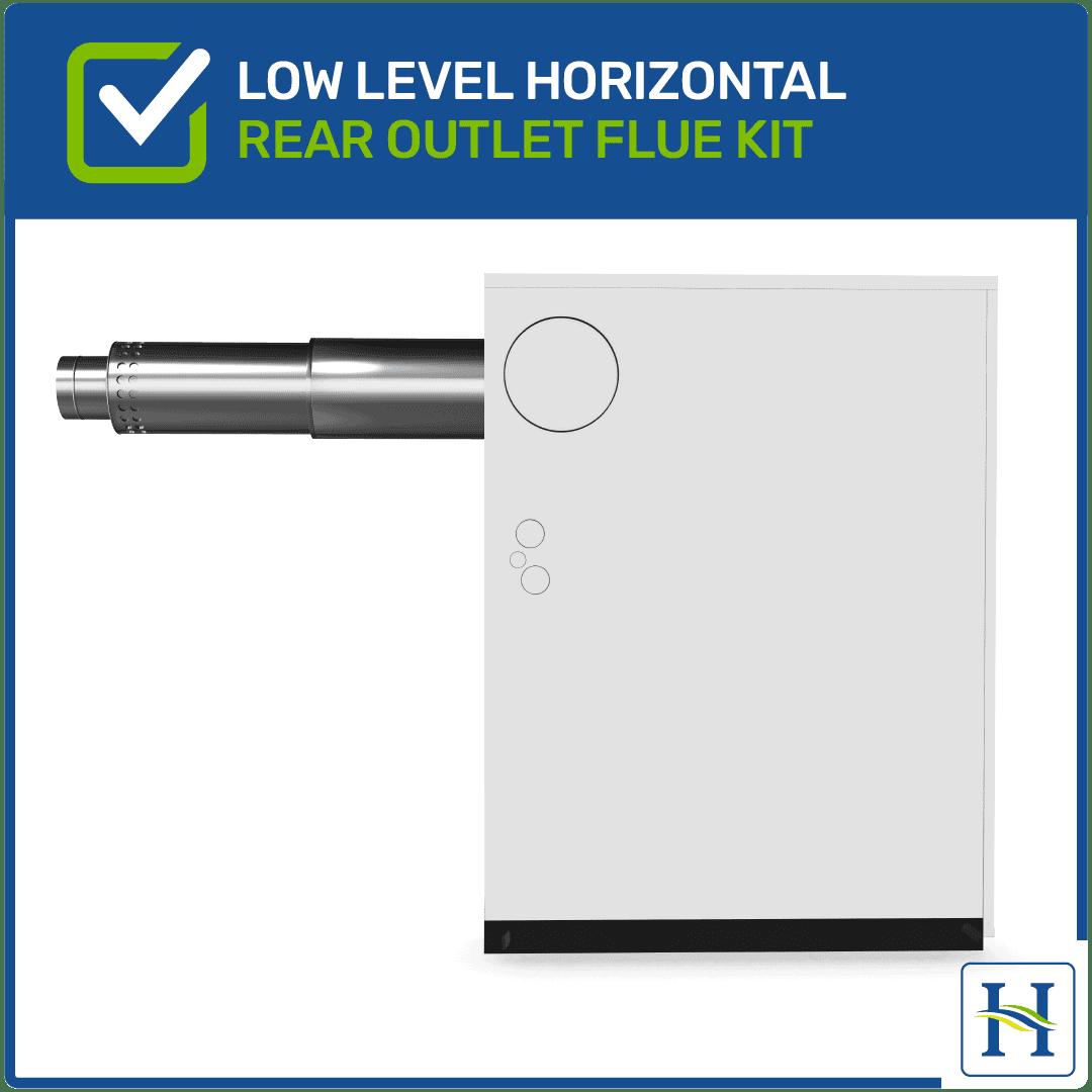 Low Level Horizontal Flue Kit Rear Outlet