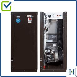 External boiler, external and internal view
