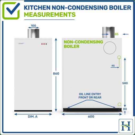 Kitchen Non Condensing Measurements