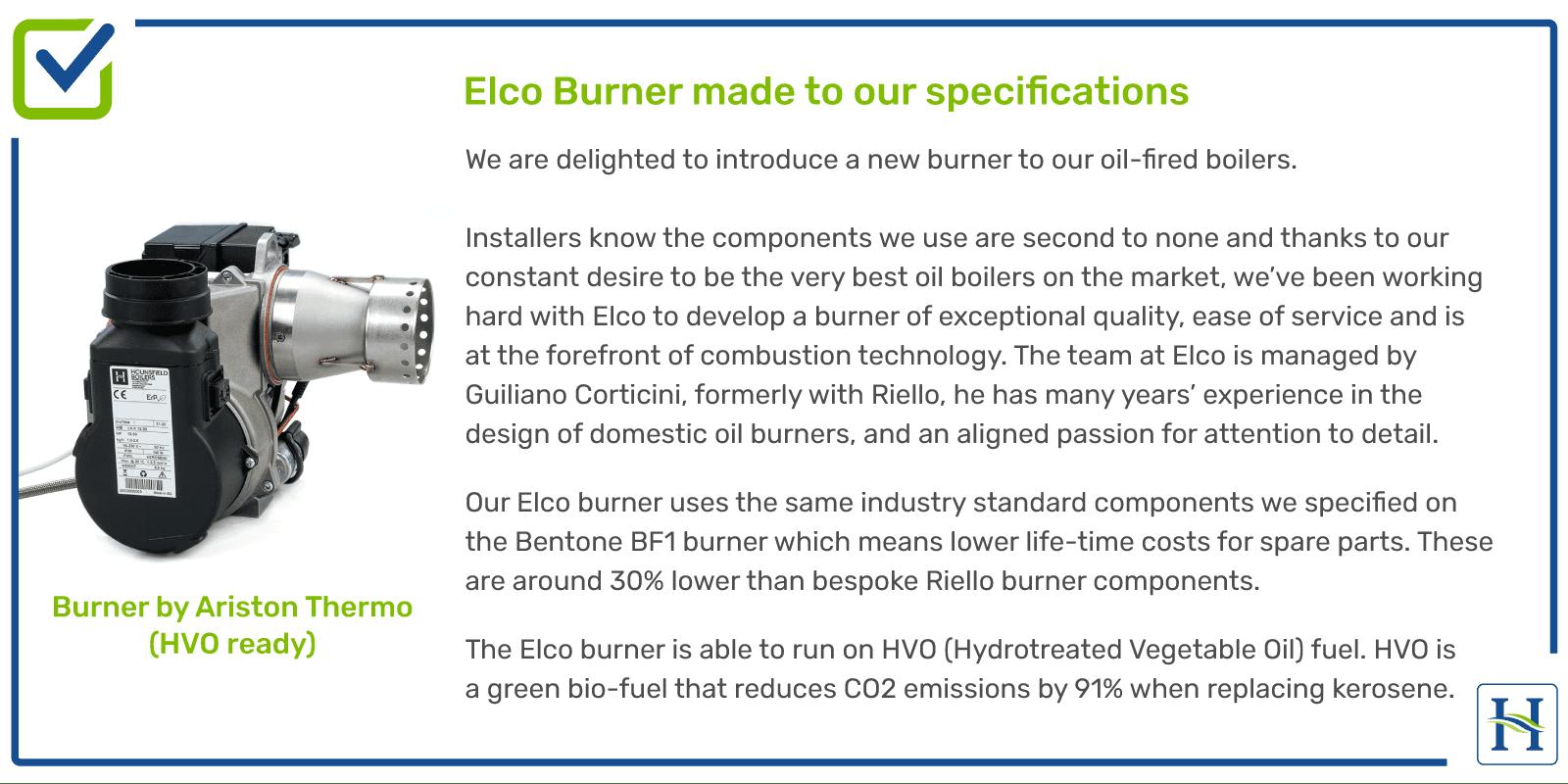 Elco Burner in Hounsfield Boilers
