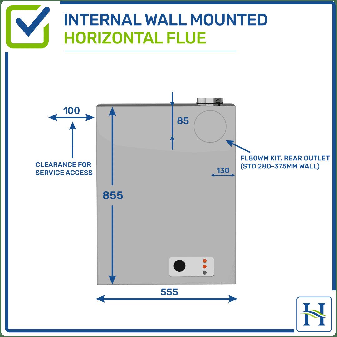 Internal Wall Boiler Horizontal Flue Options